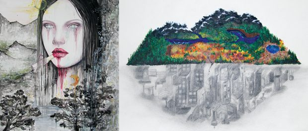 Image of the junior and senior visual art provincial winners