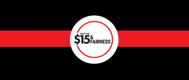 Logo for Fight for $15 & Fairness
