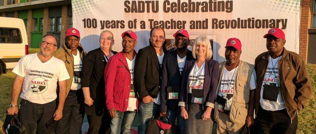 Photo of International guests and SADTU representatives