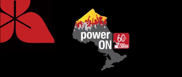 """Image of the OFL biennial convention """"power on"""" imagery"""