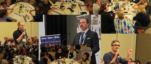 Collage of photos from Election Readiness meeting