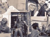 Variety of images of students.