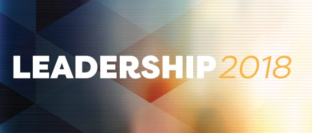 Design mage with the words Leadership 2018