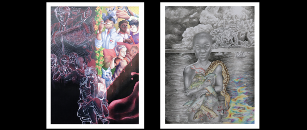 Images of two winning artworks.
