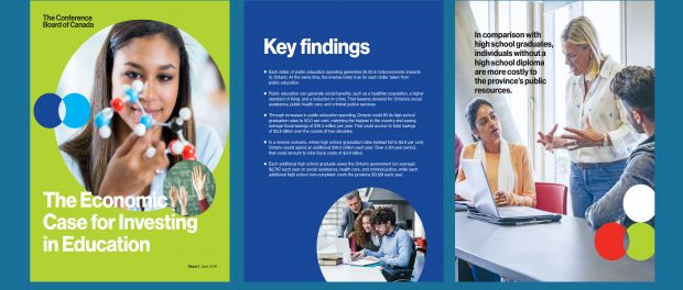 Thumbnail: Pages from the Economic Case for Investing in Education report