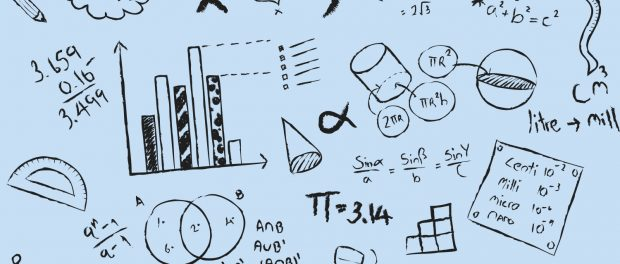Illustration: Math formulas all over a page