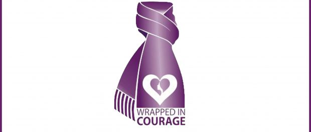 Image of the wrapped for courage logo