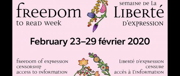 Poster with Freedom to read week details