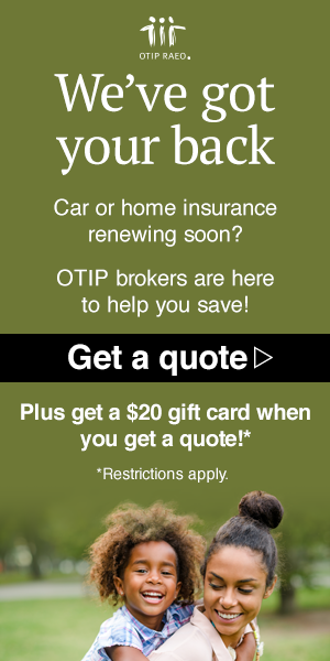 Image from OTIP saying we've got your back and call us for a quote