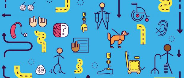Illustration: symbols representing disabilities