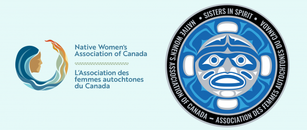 The Native Women's Association of Canada logo beside the Sisters in Spirit logo