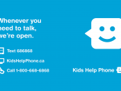 Bell kids help phone face icon with contact information