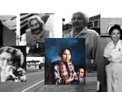 Photos of Kenojuak Ashevak; Mary Two-Axe Earley; Angela Sidney; Mikak; Nora Bernard; Jean Cuthand Goodwill