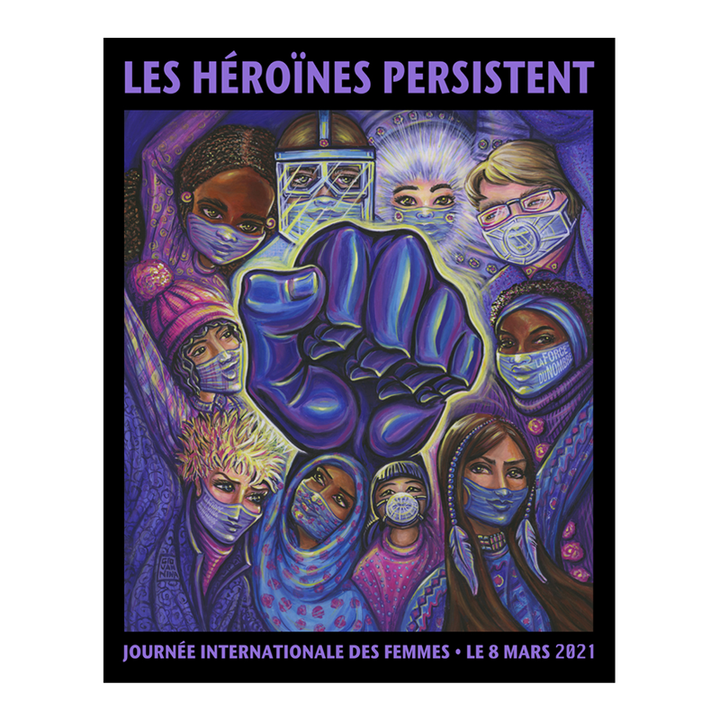 Image of the French version of the International Women's Day poster