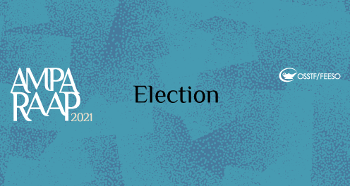 Image background design with the words AMPA RAPP 2021 Election