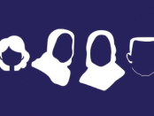Illustration of the silhouette of the London family