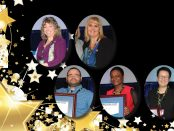 Headshot photos of the five member award winners.