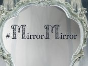 Close-up of the Mirror Mirror Student Achievement Awards advertisement poster.