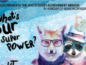 Cropped details of the Student Achievement Awards poster.