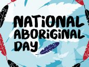 Image of artwork with National Aboriginal Day written on top.