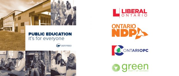 Image of the OSSTF/FEESO education platform booklet