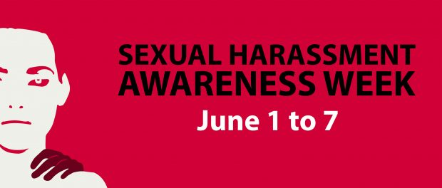 Poster announcing Sexual Harassment Awareness Week