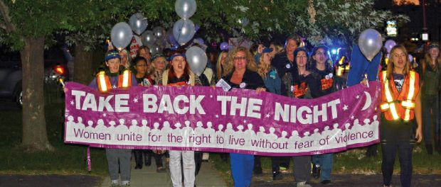 image of take back the night rally
