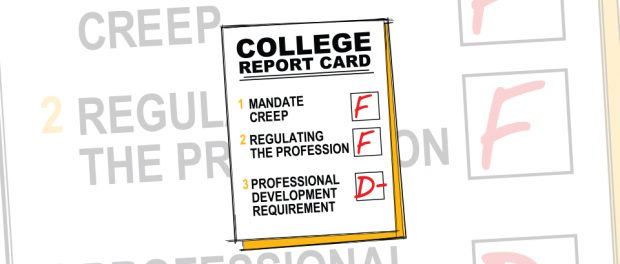 Graphic: Report card with F and D minus grades
