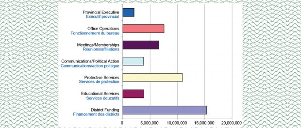 Image of a chart graph showing the dollar amounts spent