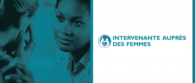 picture of woman listening to another woman with the logo for Women's advocate