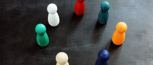 Colorful figures as a concept of diversity.