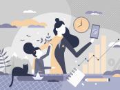 illustration depicting work life balance