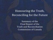 Cover image of the TRC report