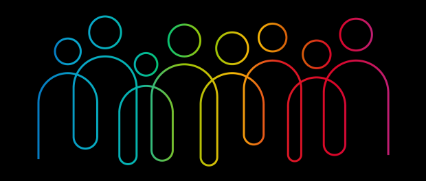 Inclusion and diversity infographic vector set, people vector logo for website